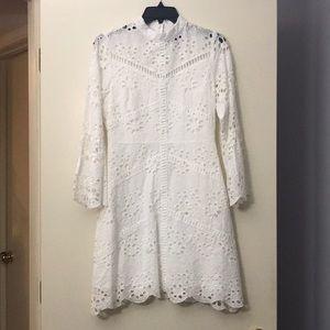 Sugarl lips white crochet dress